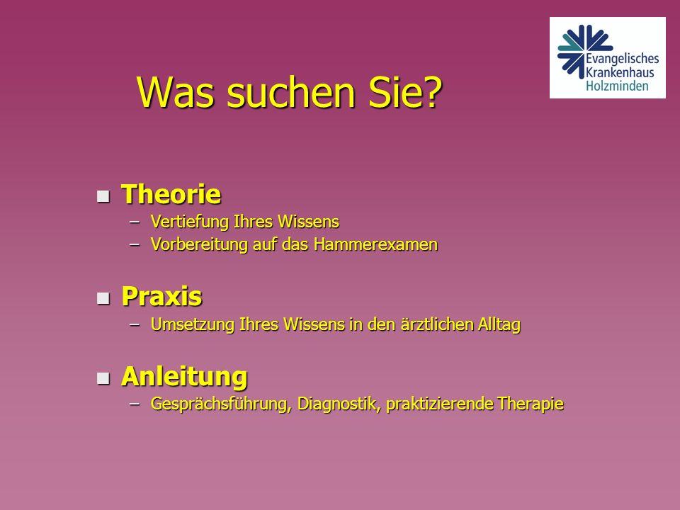 Die Belegabteilungen n für Orthopädie F.Petersen, Dr.