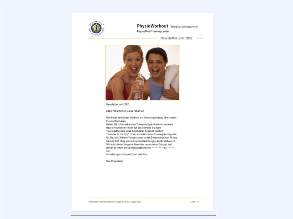 PhysioWorkout 7.0 Das neue Übungserstellungssystem von PhysioNetzwerk Das neue Übungserstellungssystem von PhysioNetzwerk