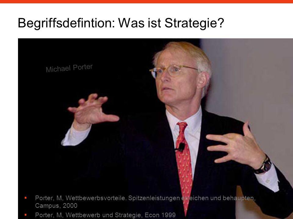 Begriffsdefintion: Was ist Strategie.Porter, M, Wettbewerbsvorteile.