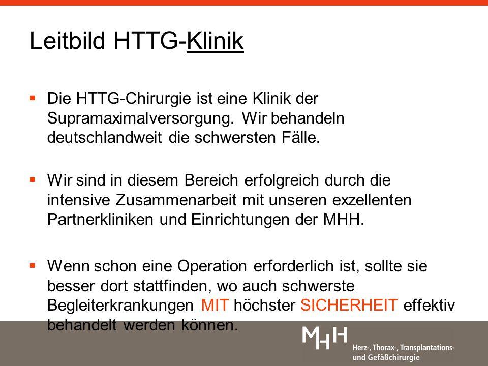 Leitbild HTTG-Klinik Die HTTG-Chirurgie ist eine Klinik der Supramaximalversorgung.