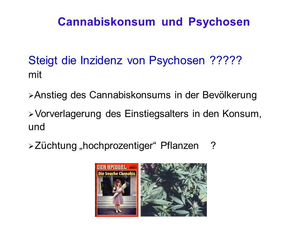 Steigt die Inzidenz von Psychosen ????.