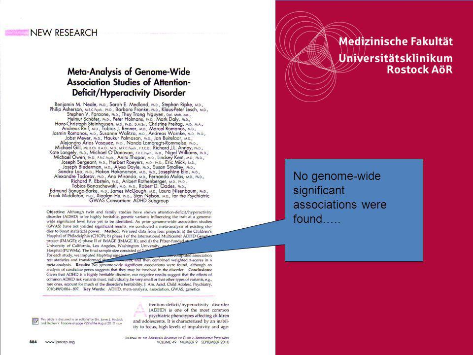 30Titel der Präsentation No genome-wide significant associations were found…..