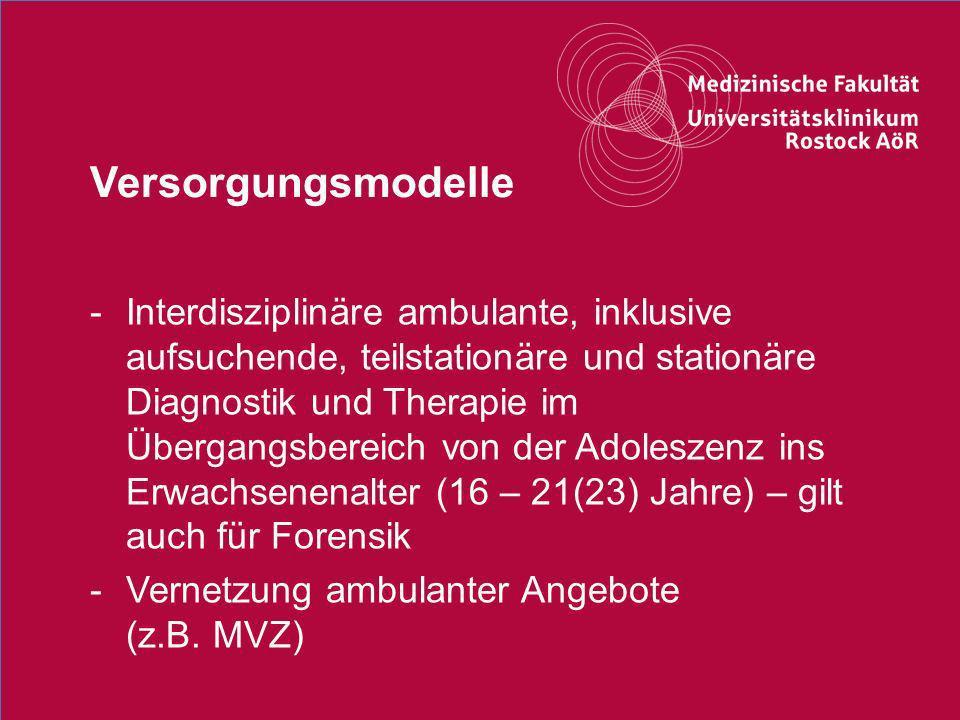 36Titel der Präsentation Versorgungsmodelle -Interdisziplinäre ambulante, inklusive aufsuchende, teilstationäre und stationäre Diagnostik und Therapie