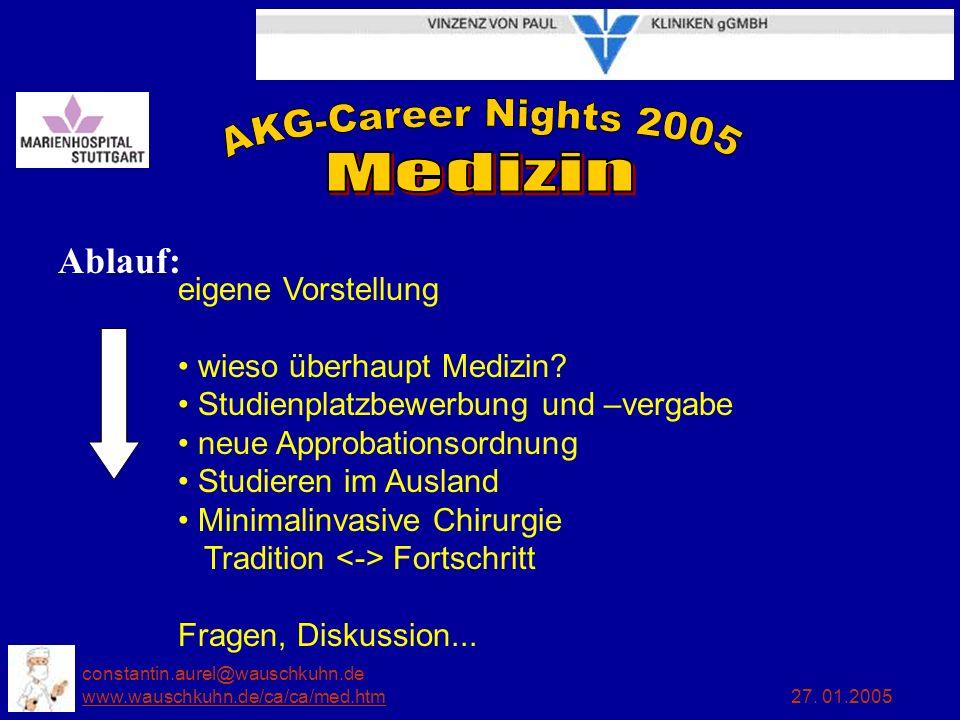 constantin.aurel@wauschkuhn.de www.wauschkuhn.de/ca/ca/med.htm 27. 01.2005 www.wauschkuhn.de/ca/ca/med.htm Ablauf: eigene Vorstellung wieso überhaupt