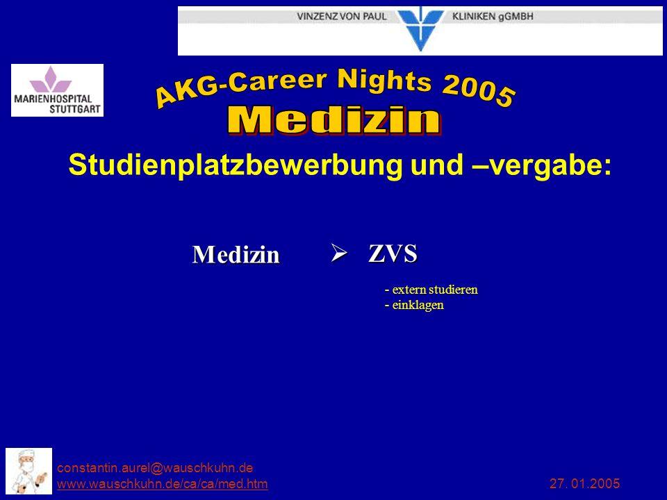 constantin.aurel@wauschkuhn.de www.wauschkuhn.de/ca/ca/med.htm 27. 01.2005 www.wauschkuhn.de/ca/ca/med.htm Studienplatzbewerbung und –vergabe: Medizin