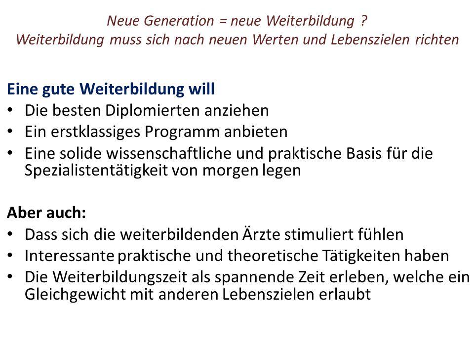 Neue Generation = neue Weiterbildung .
