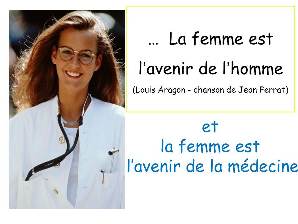 … La femme est lavenir de lhomme (Louis Aragon - chanson de Jean Ferrat) et la femme est lavenir de la médecine