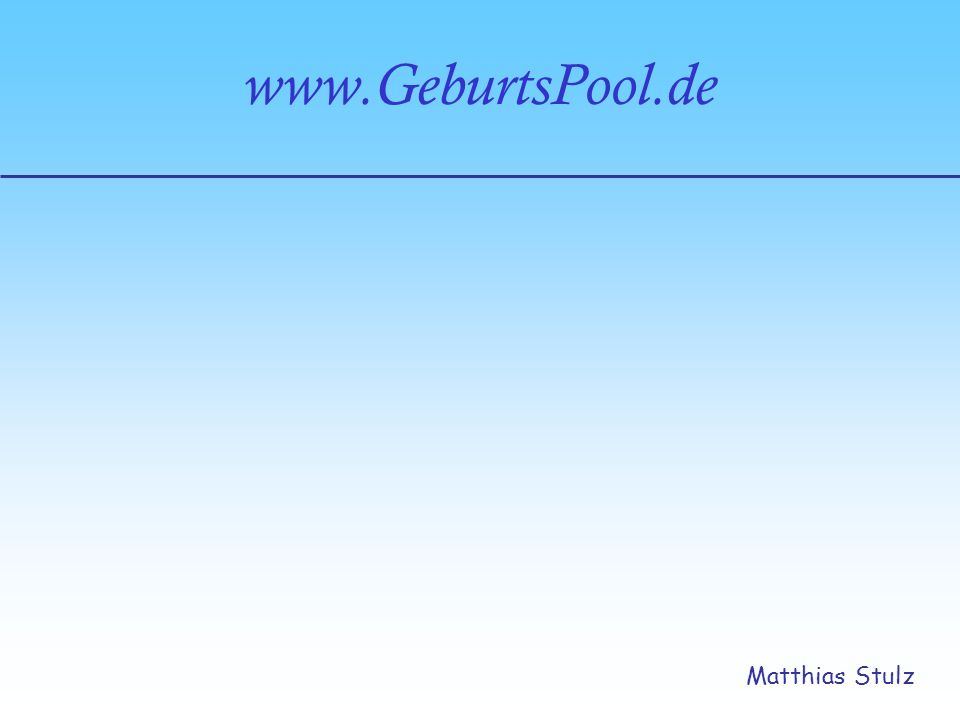 www.GeburtsPool.de Matthias Stulz