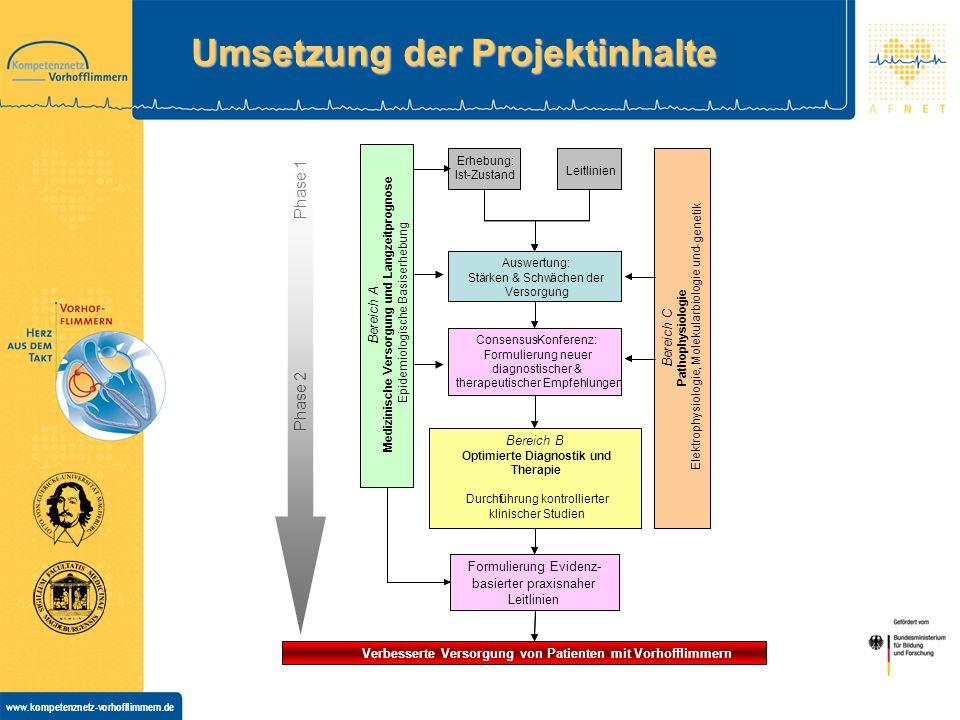 www.kompetenznetz-vorhofflimmern.de Umsetzung der Projektinhalte