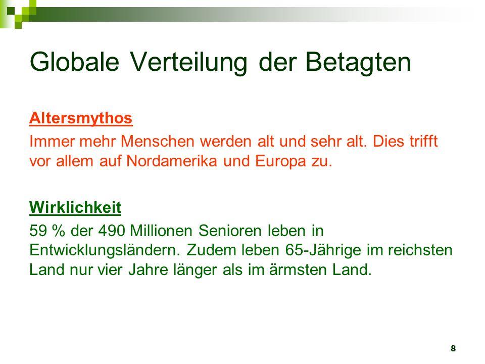 9 Isolation im Alter Altersmythos Die meisten Senioren in der Schweiz leben alleine.