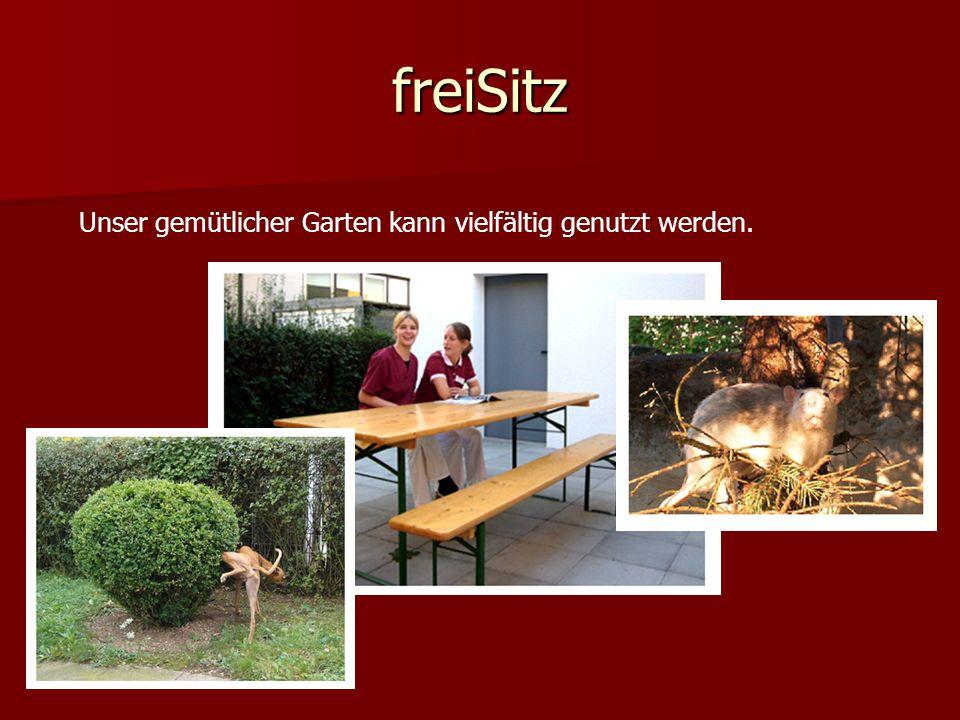 freiSitz Unser gemütlicher Garten kann vielfältig genutzt werden.
