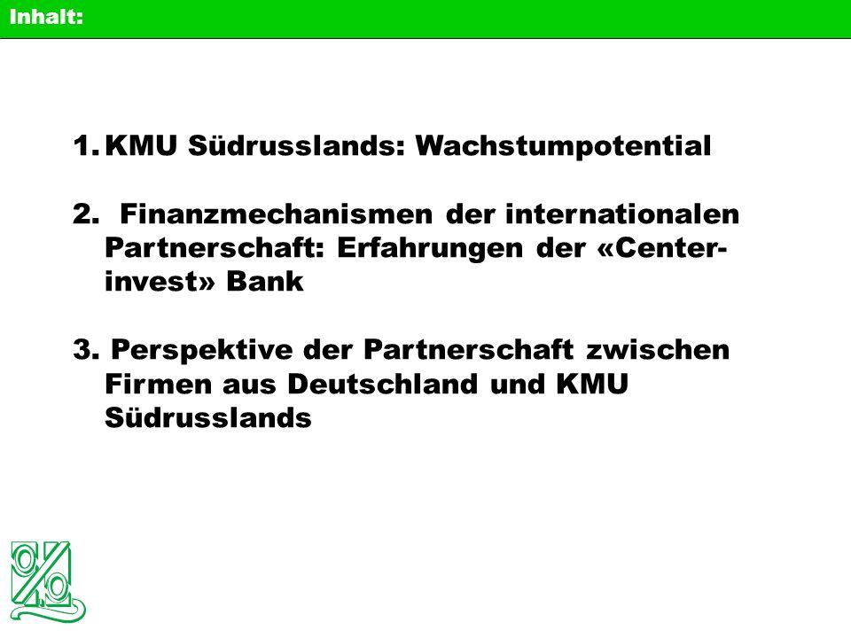 05.05.2004 Unternehmensverwaltung: Erfahrungen von «Center-invest» Bank Internationale Partnerschaft