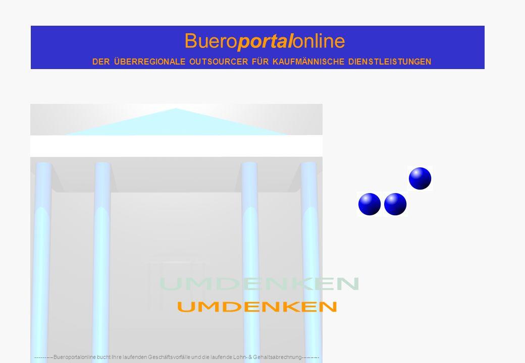 Bueroportalonline DER ÜBERREGIONALE OUTSOURCER FÜR KAUFMÄNNISCHE DIENSTLEISTUNGEN ----------Bueroportalonline bucht Ihre laufenden Geschäftsvorfälle und die laufende Lohn- & Gehaltsabrechnung----------