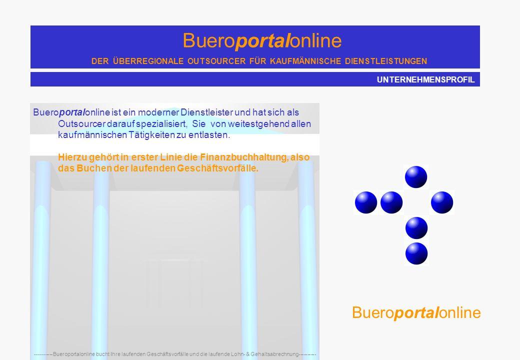 Bueroportalonline DER ÜBERREGIONALE OUTSOURCER FÜR KAUFMÄNNISCHE DIENSTLEISTUNGEN ----------Bueroportalonline bucht Ihre laufenden Geschäftsvorfälle und die laufende Lohn- & Gehaltsabrechnung---------- Bueroportalonline Hardfacts: Geschäftsgründung in 1997 durch Frau Ilka Petter Domizil: Gevelsberg deutschlandweite Ausrichtung der Geschäftsbereiche Buchhaltung und Lohn & Gehaltsabrechnung Kompetenz pur: Steuerfachgehilfin, Steuerfachwirtin, Buchhalterin und Dipl.-Wirt.-Ing.
