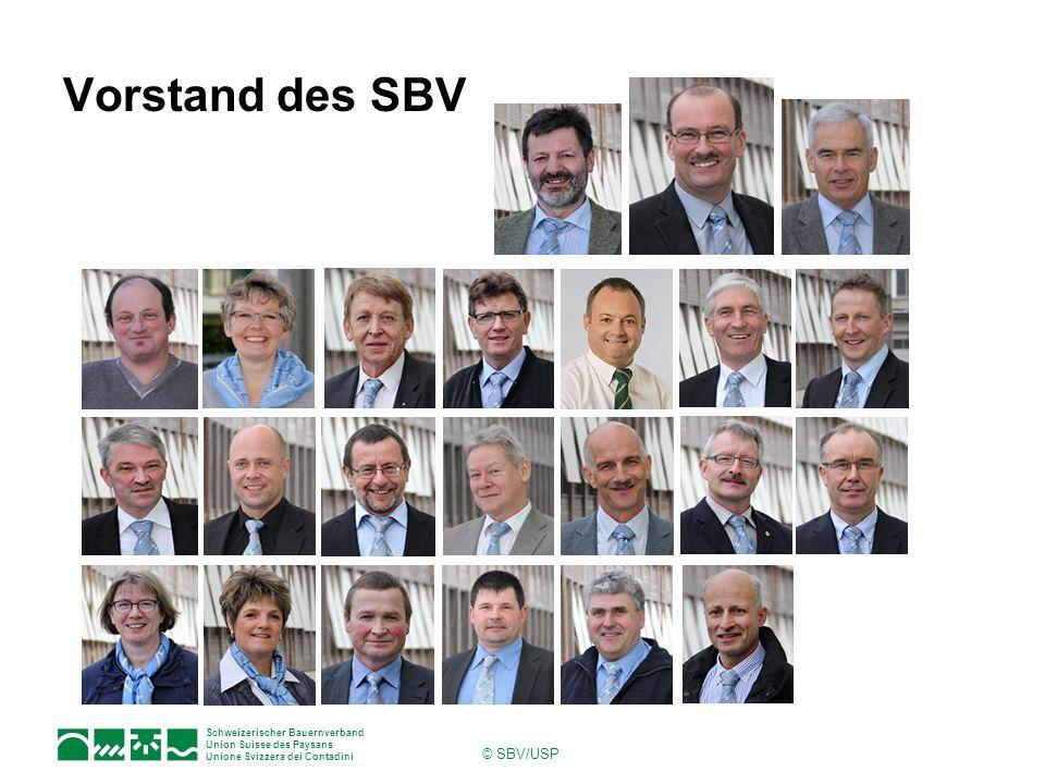 Schweizerischer Bauernverband Union Suisse des Paysans Unione Svizzera dei Contadini © SBV/USP Vorstand des SBV