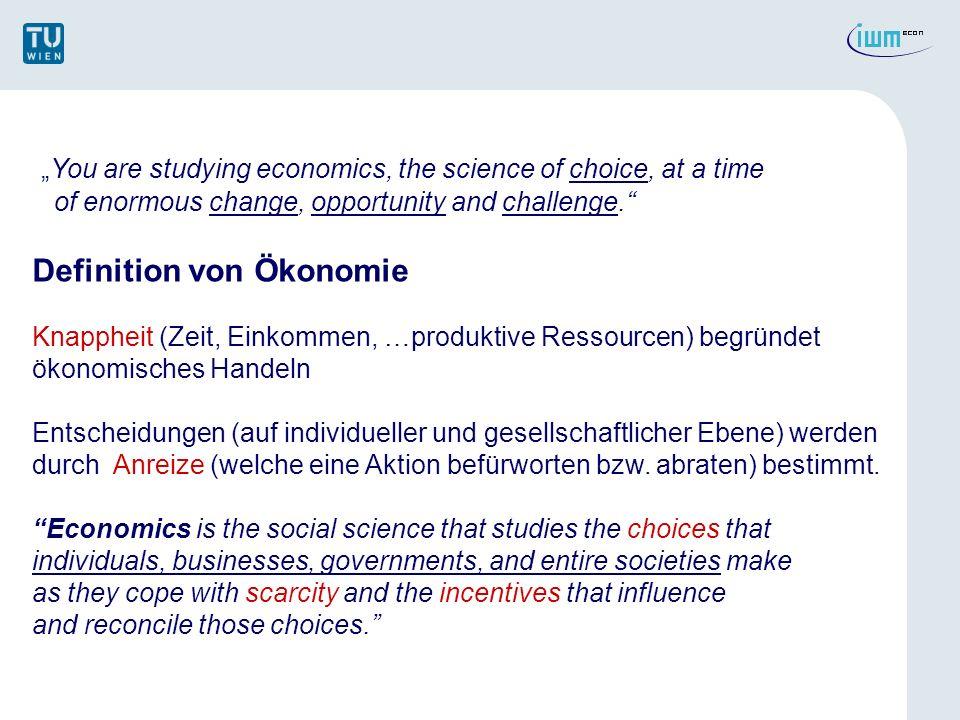 Ökonomie als Sozialwissenschaft Positiv vs.