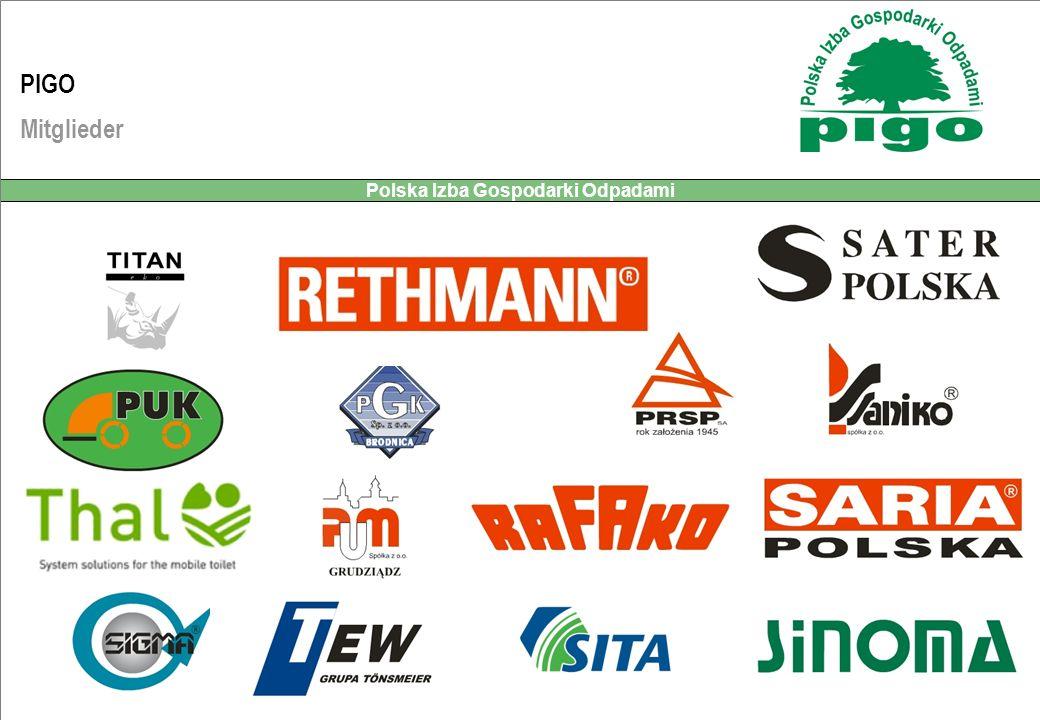 RETHMANN Recycling Sp. z o.o. Polska Izba Gospodarki Odpadami PIGO Mitglieder