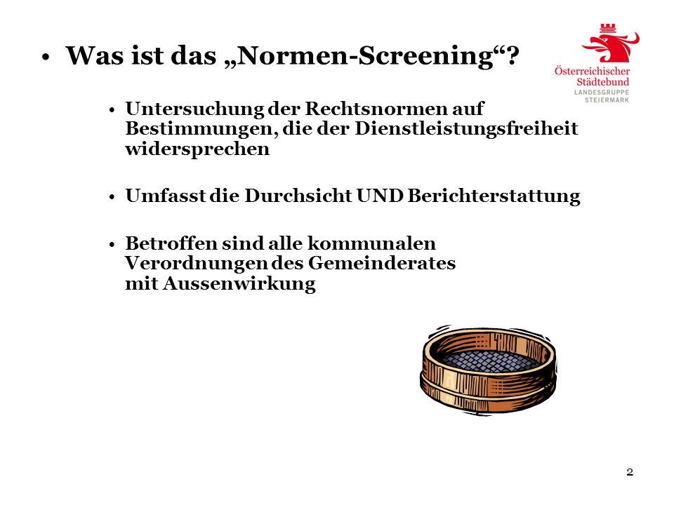 2 Was ist das Normen-Screening.
