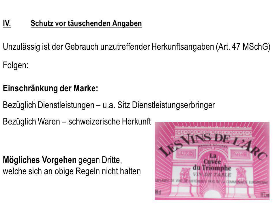 IV.Kollektiv- und Garantiemarken - Fazit Das Gesetz würde die Voraussetzungen für einen effektiven Markenschutz mittels Garantie- und Kollektivmarken