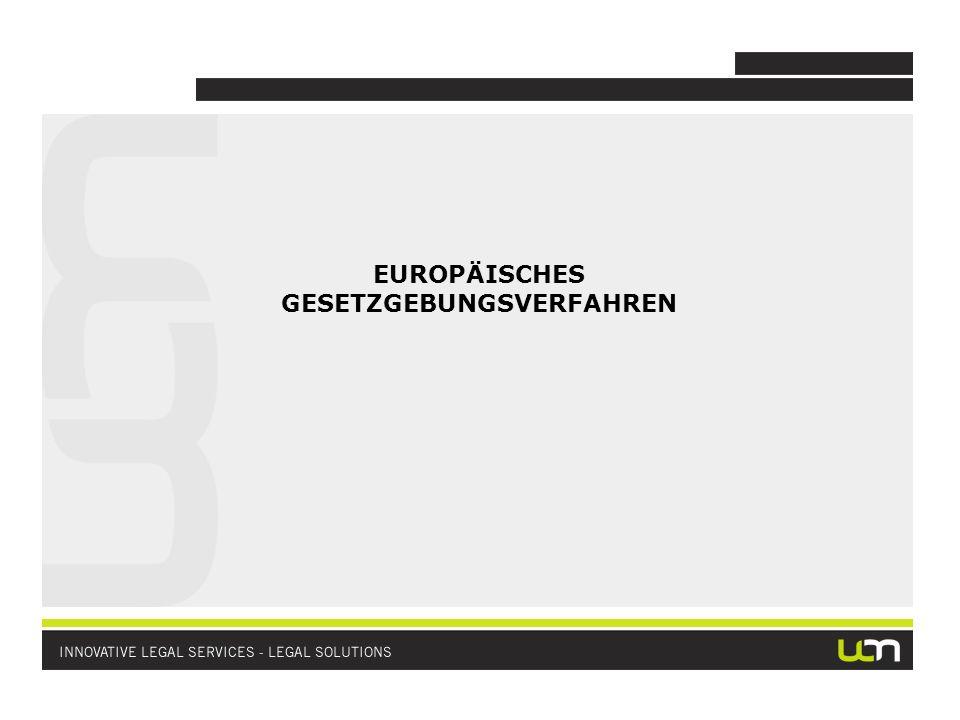 EUROPÄISCHES GESETZGEBUNGSVERFAHREN