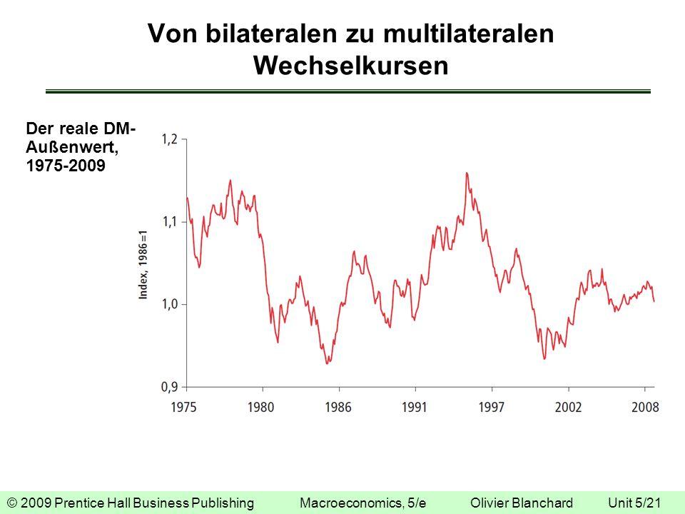 © 2009 Prentice Hall Business Publishing Macroeconomics, 5/e Olivier Blanchard Unit 5/21 Von bilateralen zu multilateralen Wechselkursen Der reale DM-