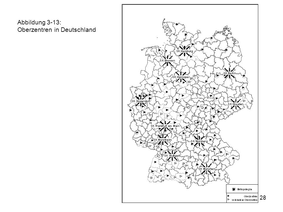 28 Abbildung 3-13: Oberzentren in Deutschland
