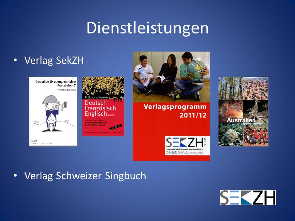 Dienstleistungen Verlag SekZH Verlag Schweizer Singbuch
