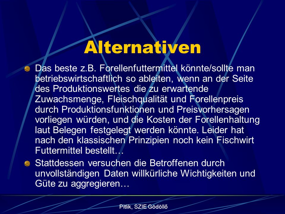 Pitlik, SZIE Gödöllő Alternativen Das beste z.B.