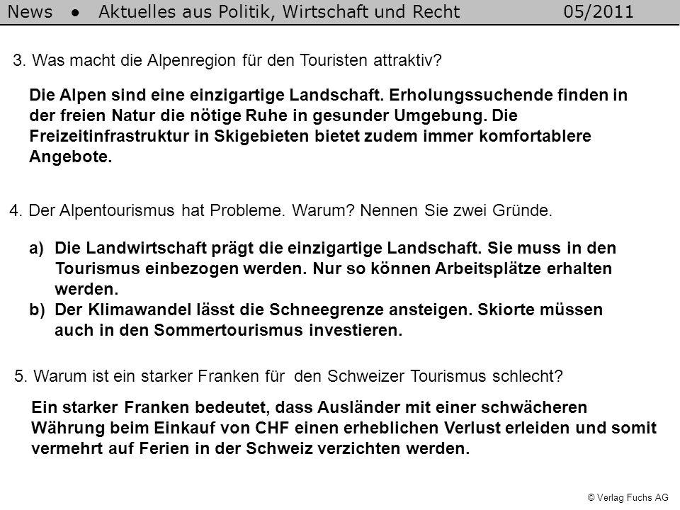 News Aktuelles aus Politik, Wirtschaft und Recht05/2011 © Verlag Fuchs AG 3.