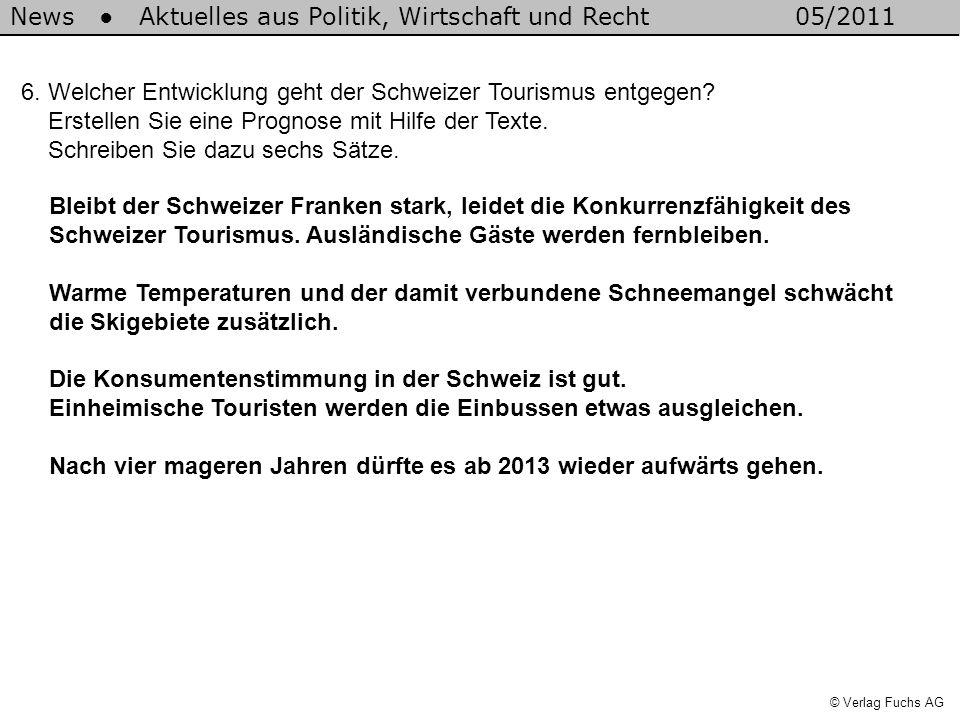 News Aktuelles aus Politik, Wirtschaft und Recht05/2011 © Verlag Fuchs AG 6.