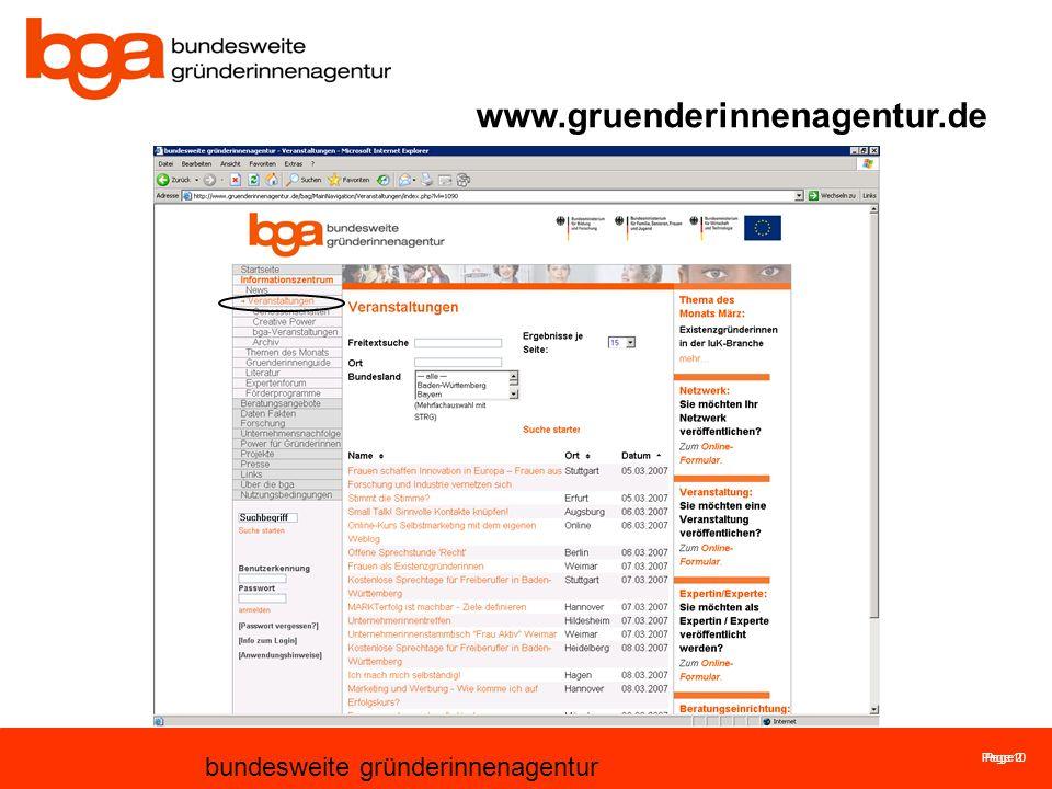 Page 10 bundesweite gründerinnenagentur Page 2 www.gruenderinnenagentur.de