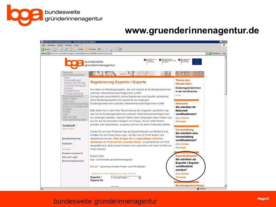 Page 13 bundesweite gründerinnenagentur Page 2 www.gruenderinnenagentur.de