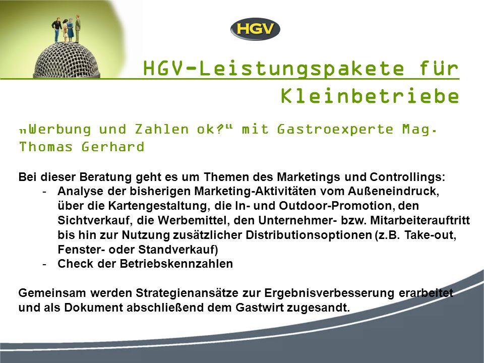 Werbung und Zahlen ok. mit Gastroexperte Mag.