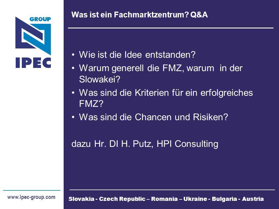 Was ist ein Fachmarktzentrum. Q&A Wie ist die Idee entstanden.