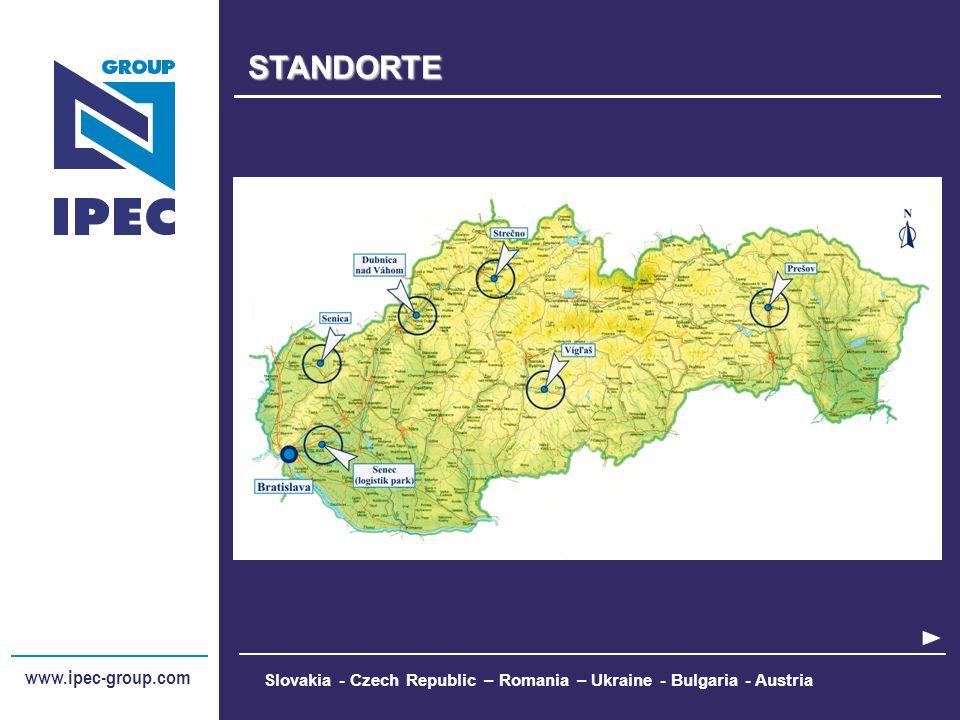 www.ipec-group.comSTANDORTE Slovakia - Czech Republic – Romania – Ukraine - Bulgaria - Austria