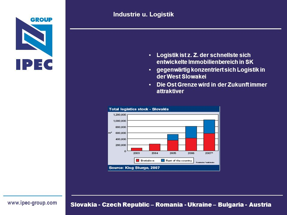 www.ipec-group.com Logistik Parks IPEC, UBM, Parkridge, Karimpol, ESA Logistik, Böllhoff, Billa gsmt.