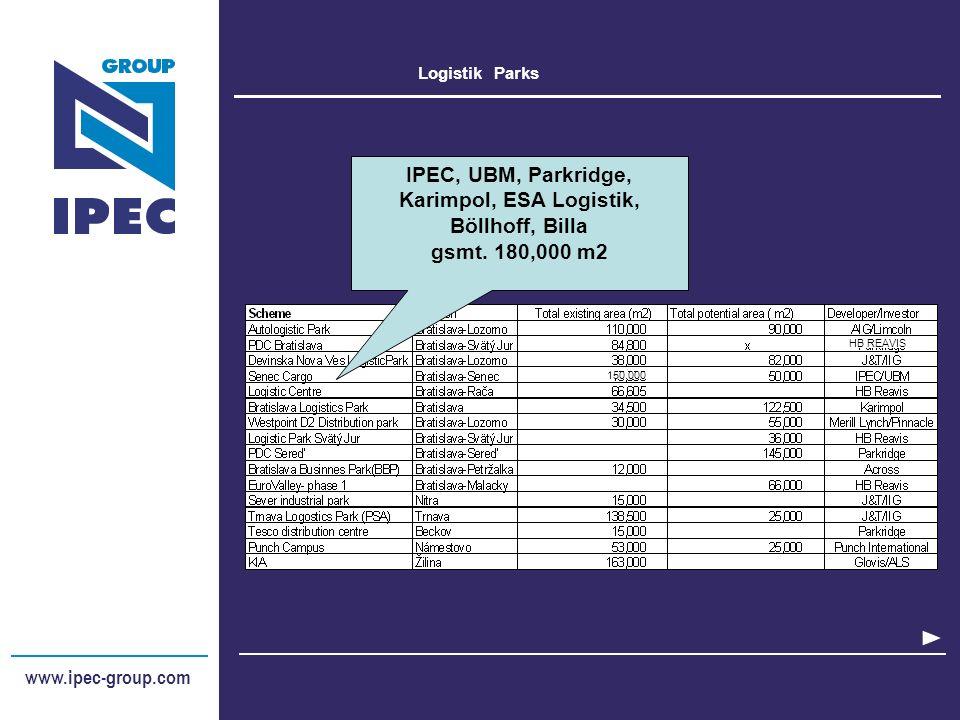 Logistik - Q&A www.ipec-group.com Slovakia - Czech Republic – Romania - Ukraine – Bulgaria - Austria Wie sehen die Verkehrskorridoren in der SK aus.