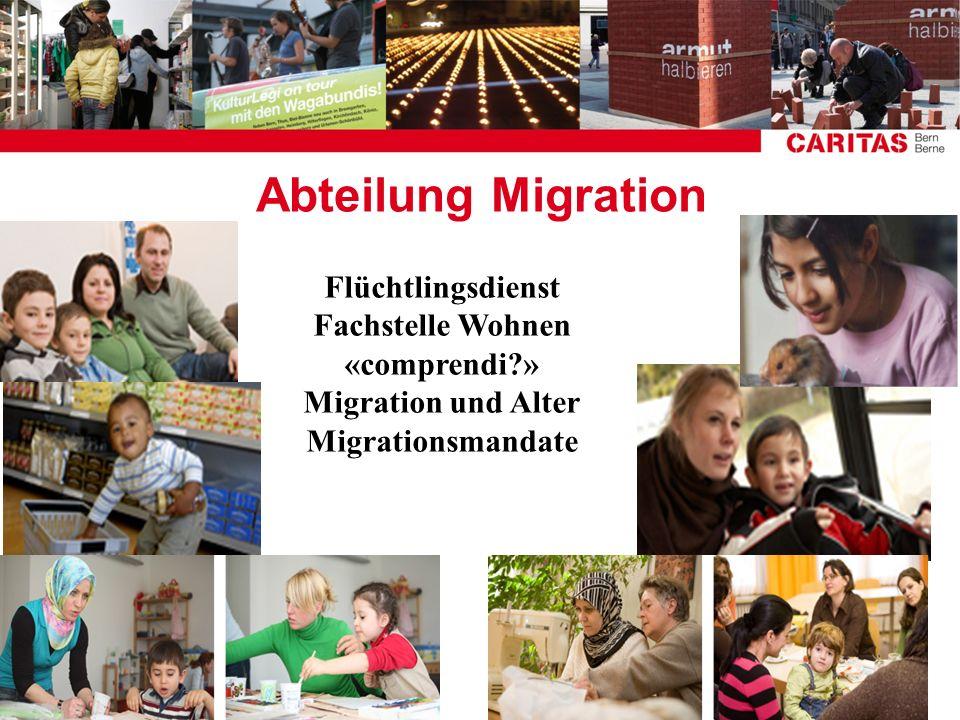 Abteilung Migration Flüchtlingsdienst Fachstelle Wohnen «comprendi?» Migration und Alter Migrationsmandate