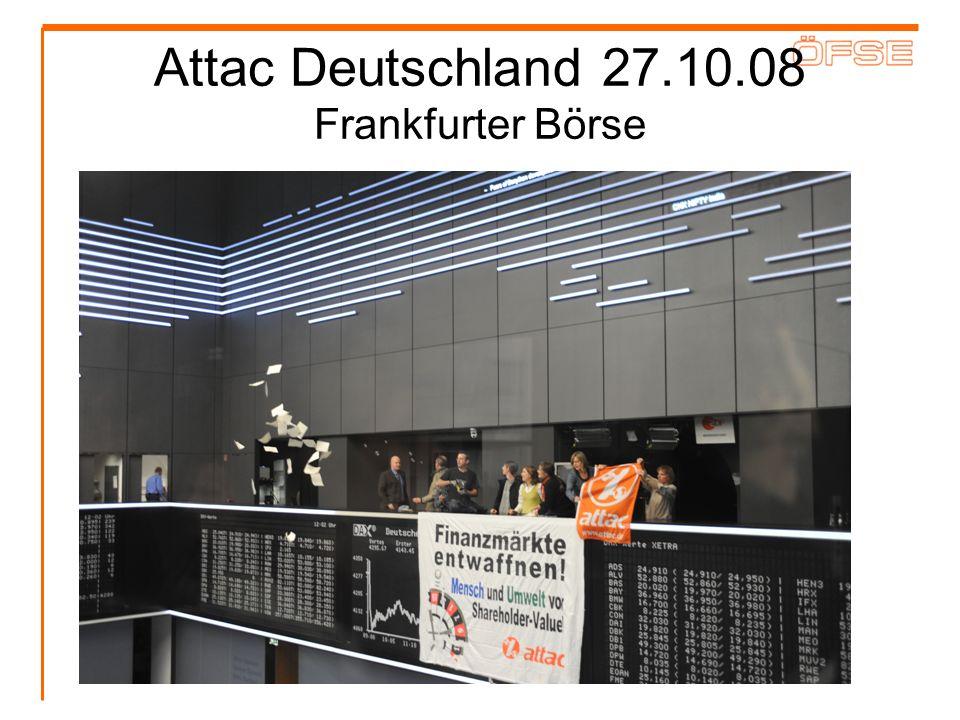 Attac Deutschland 27.10.08 Frankfurter Börse