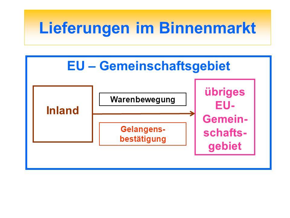 § 6a UStG Abnehmer ein im fremden EU-Land registrierter Unternehmer - Überprüfung der USt-ID-Nr.