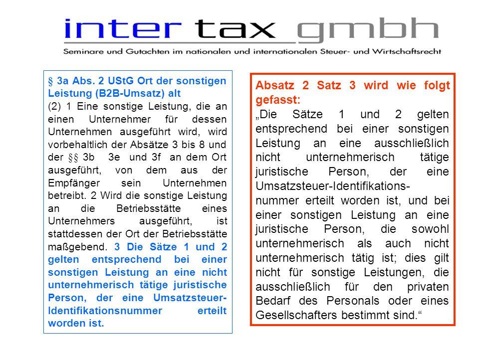 Umsatzsteuer § 3a Abs.3 Nr.