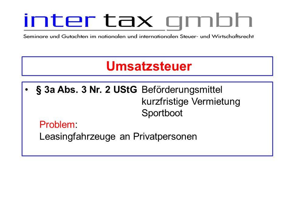 Umsatzsteuer § 4 UStG Steuerbefreiung § 4 Nr.14 Buchst.