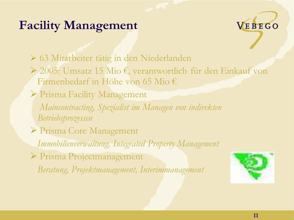 10 Produkte & Systeme 227 Mitarbeiter in 3 Ländern (NL, B, F) 2005: Gesamtumsatz 25 Mio Gesamtkonzept für professionelle Reinigung in Form von Beratung, hochwertiger Maschinen, Reinigungsmittel, Systeme und Schulung Wir kennen Ihre Organisation und Ihre Arbeitsmethoden Qualität hinsichtlich Produkten und Service