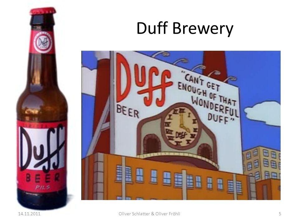 Duff Brewery 14.11.2011Oliver Schlatter & Oliver Fröhli5