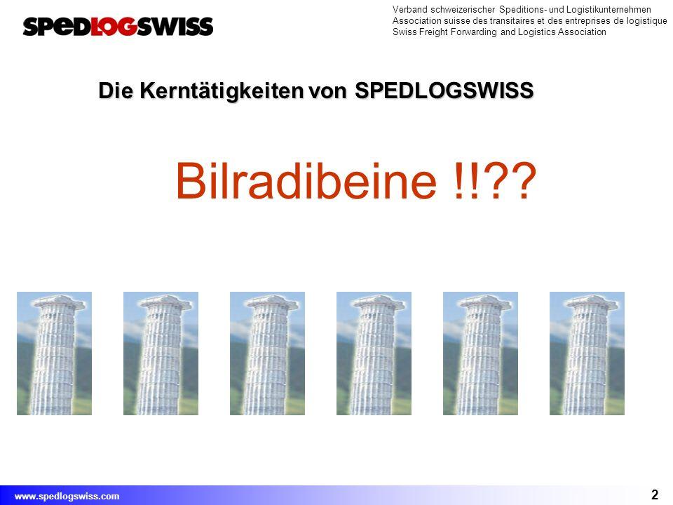 2 Verband schweizerischer Speditions- und Logistikunternehmen Association suisse des transitaires et des entreprises de logistique Swiss Freight Forwa