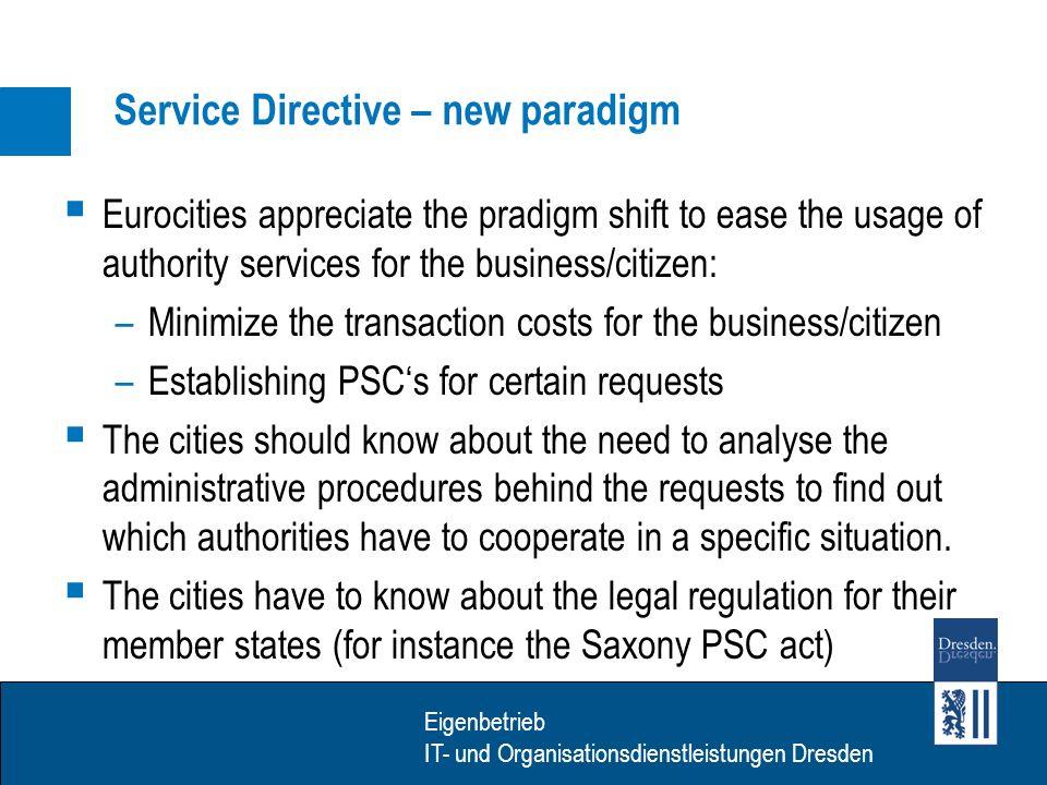 Eigenbetrieb IT- Dienstleistungen Dresden Eigenbetrieb IT- und Organisationsdienstleistungen Dresden Link to SPOCS