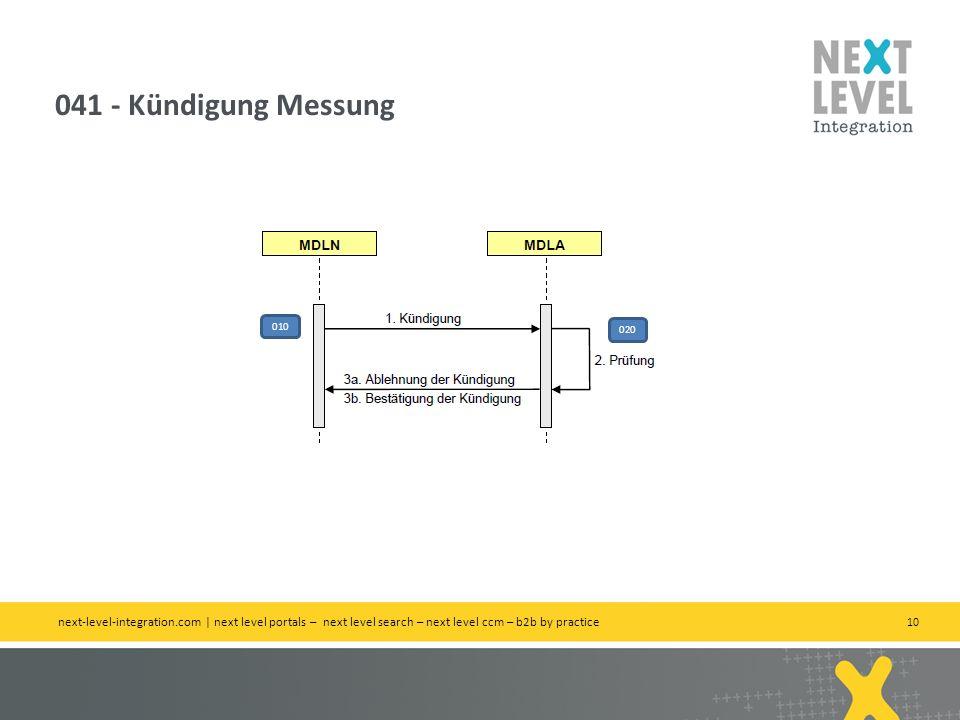 10 041 - Kündigung Messung next-level-integration.com | next level portals – next level search – next level ccm – b2b by practice 010 020