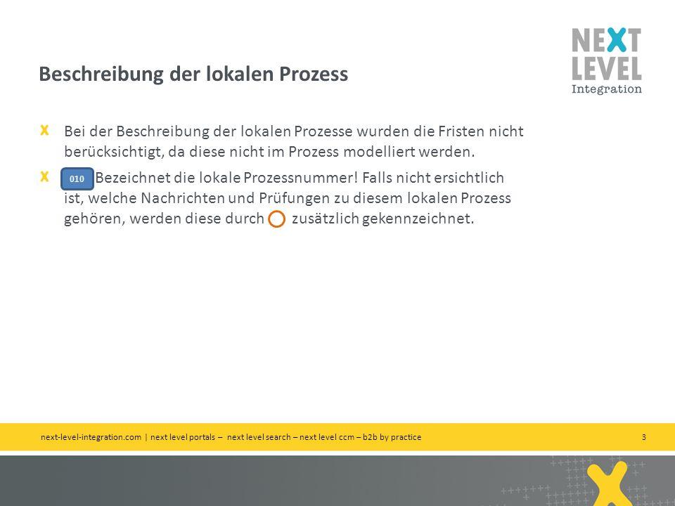 3 Bei der Beschreibung der lokalen Prozesse wurden die Fristen nicht berücksichtigt, da diese nicht im Prozess modelliert werden.