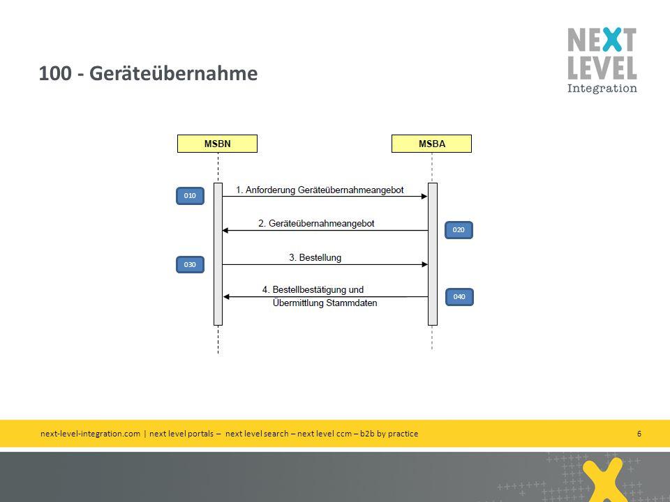 6 100 - Geräteübernahme next-level-integration.com | next level portals – next level search – next level ccm – b2b by practice 010 020 030 040