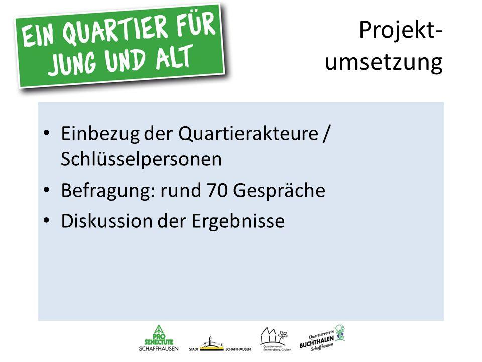 Ziele des Anlasses Information der Quartierbevölkerung Diskussion und Austausch Bildung von Aktionsgruppen